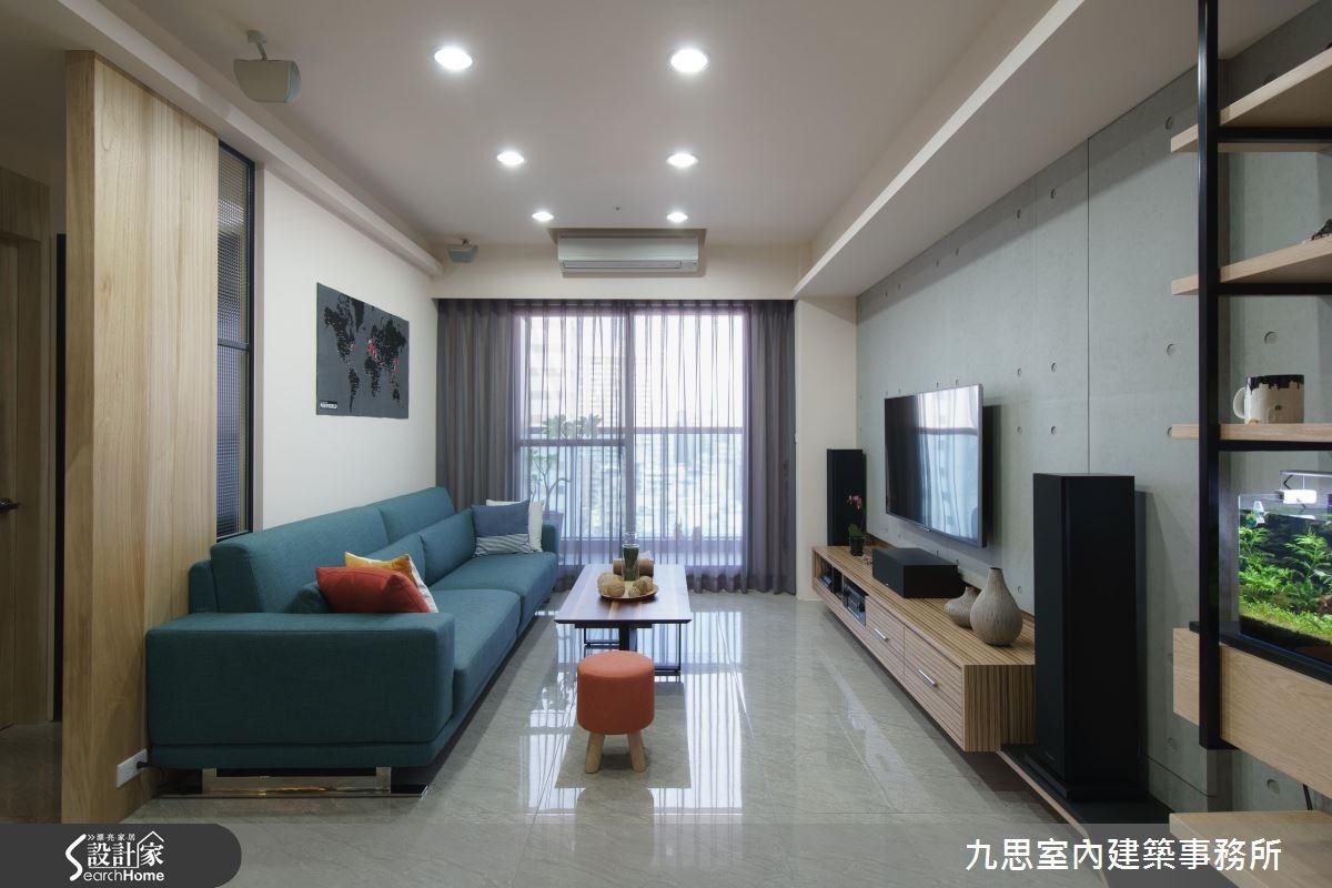 24坪新成屋(5年以下)_簡約風客廳案例圖片_九思室內建築事務所_九思_10之3