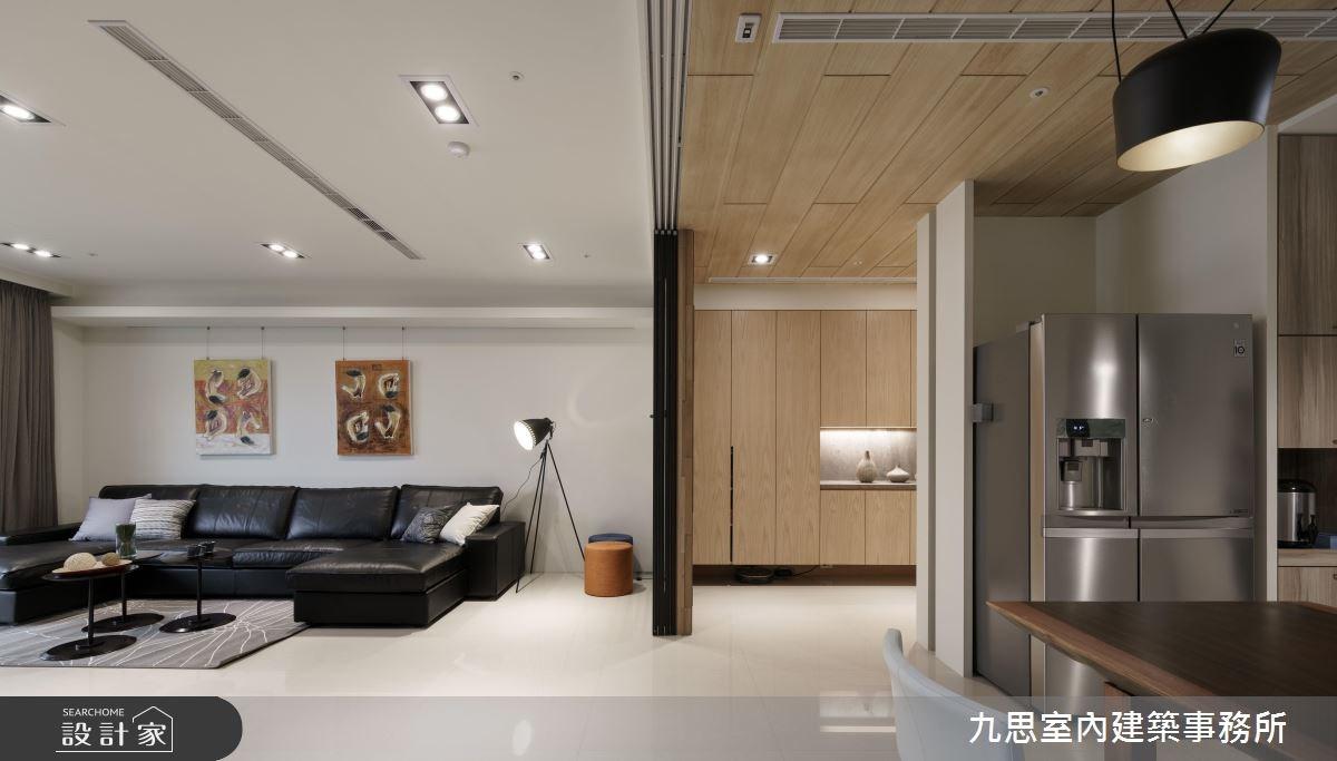 45坪新成屋(5年以下)_現代風客廳案例圖片_九思室內建築事務所_九思_11之3