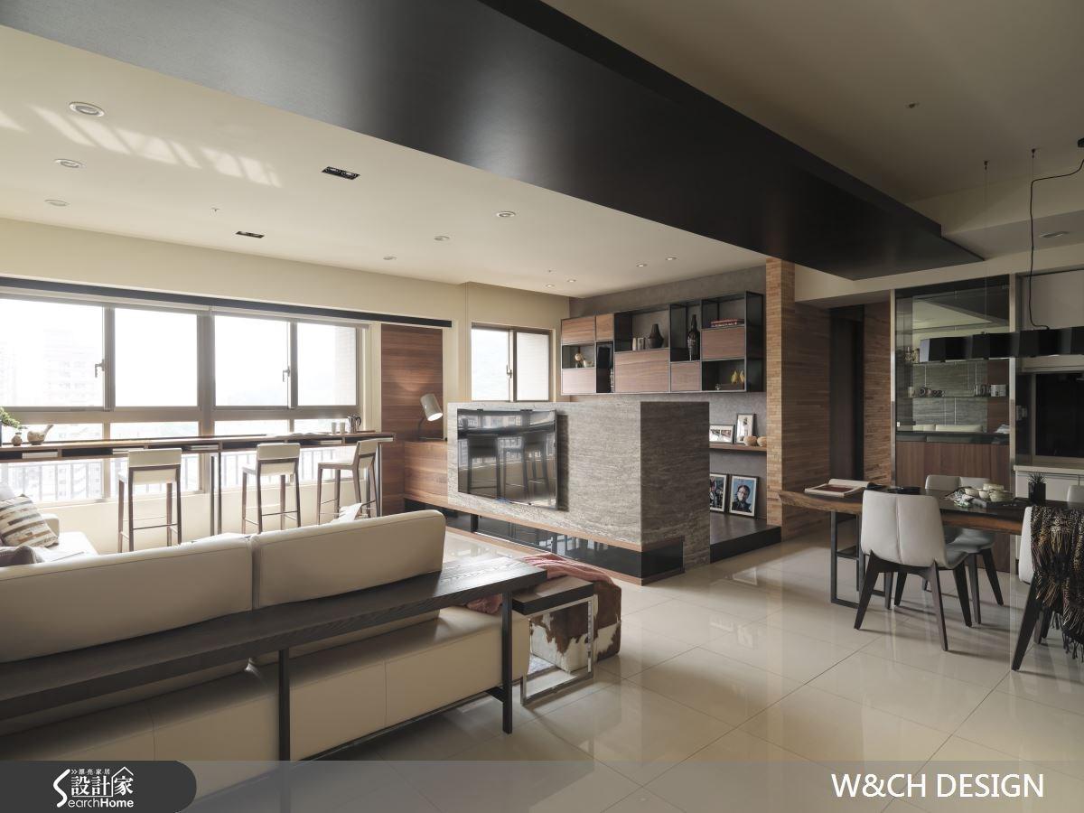 45坪新成屋(5年以下)_休閒風客廳餐廳案例圖片_W&CH 大器國際室內裝修設計_W&CH_05之3
