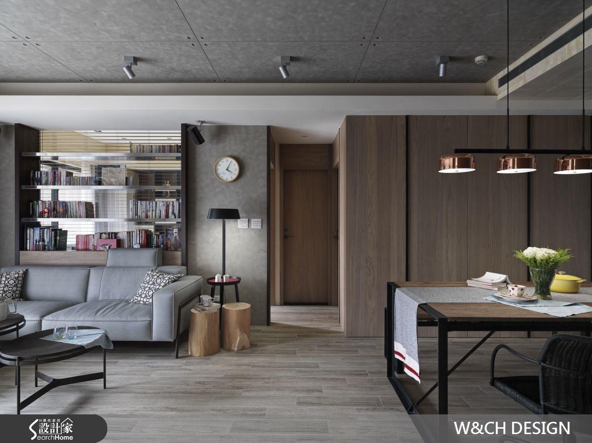 30坪中古屋(5~15年)_工業風客廳案例圖片_W&CH 大器國際室內裝修設計_W&CH_10之1