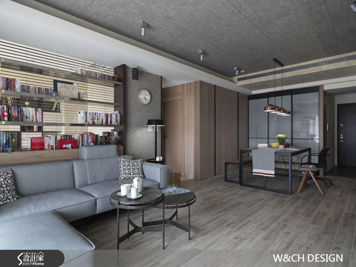 30坪中古屋(5~15年)_工業風客廳案例圖片_W&CH 大器國際室內裝修設計_W&CH_10之2