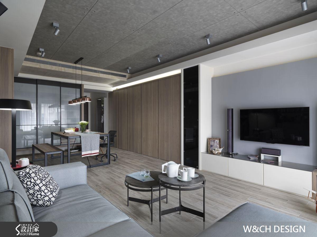 30坪中古屋(5~15年)_工業風客廳案例圖片_W&CH 大器國際室內裝修設計_W&CH_10之3
