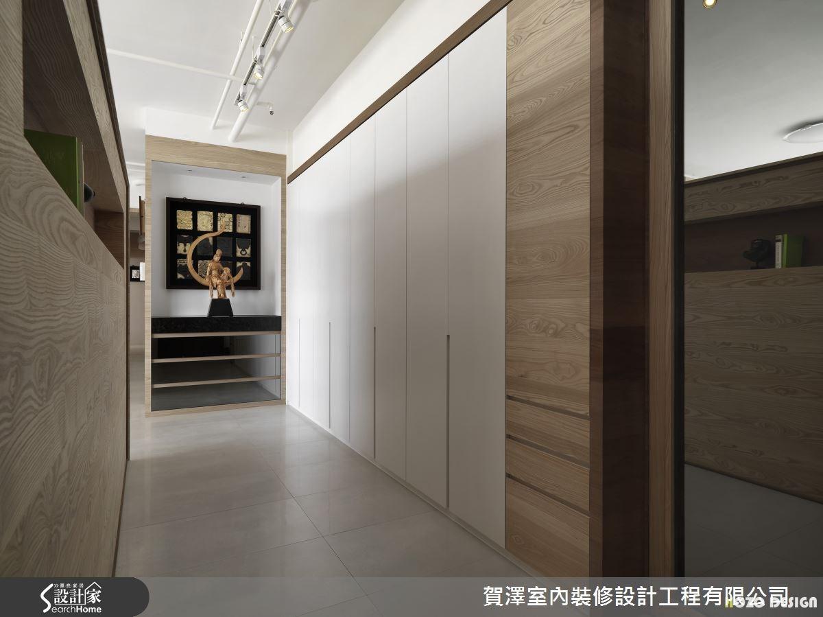 45坪新成屋(5年以下)_現代風走廊案例圖片_賀澤室內設計_賀澤_01之1