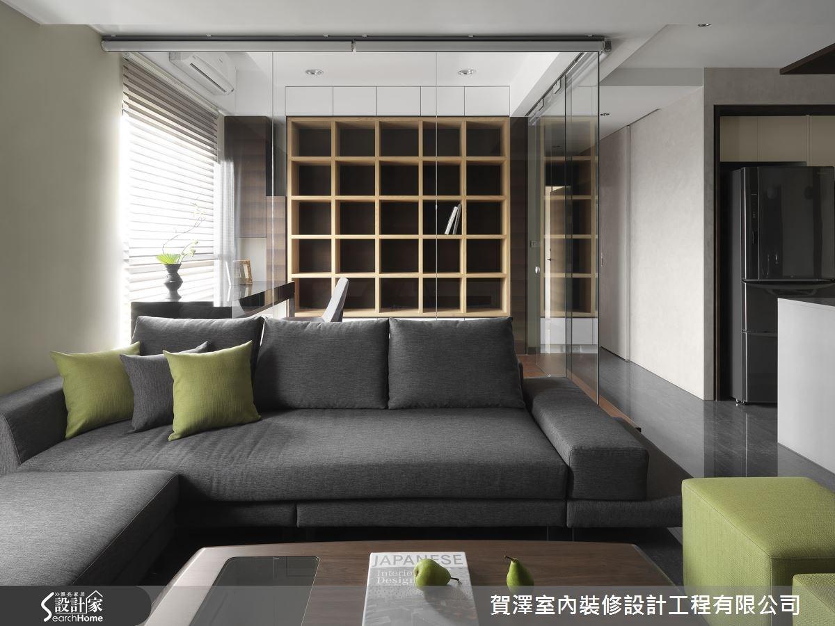 25坪預售屋_現代風客廳案例圖片_賀澤室內設計_賀澤_03之1