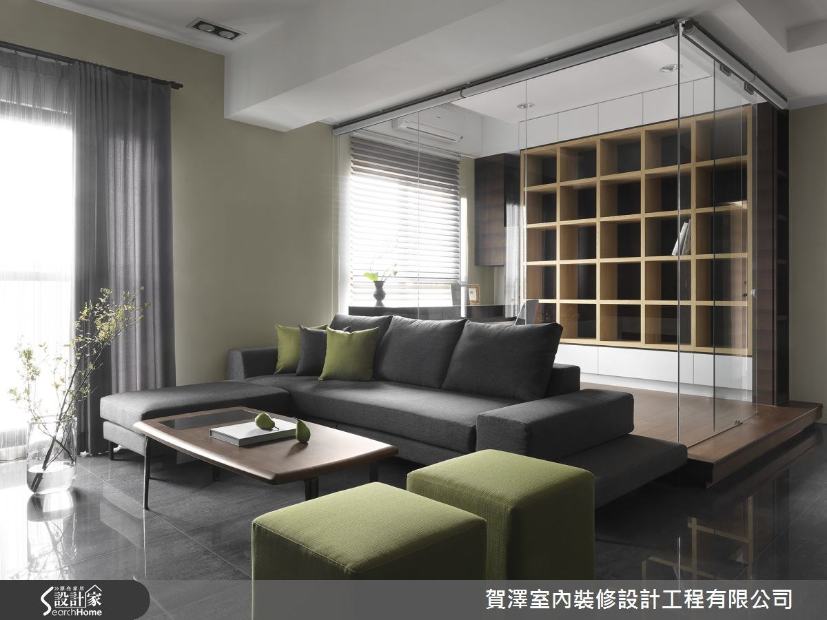 25坪預售屋_現代風客廳書房案例圖片_賀澤室內設計_賀澤_03之2