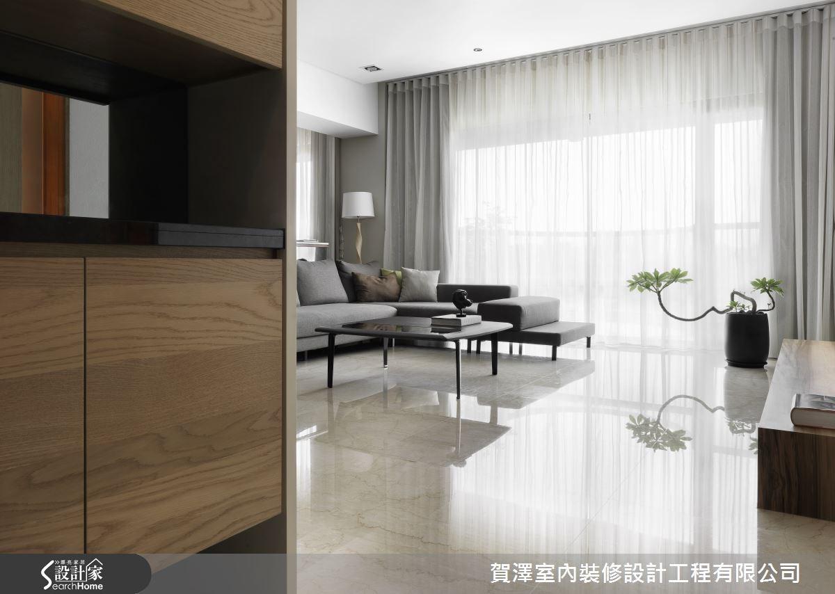 45坪新成屋(5年以下)_休閒風客廳案例圖片_賀澤室內設計_賀澤_04之2