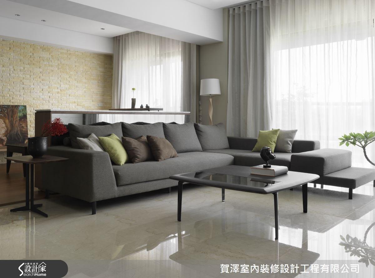 45坪新成屋(5年以下)_休閒風客廳案例圖片_賀澤室內設計_賀澤_04之3