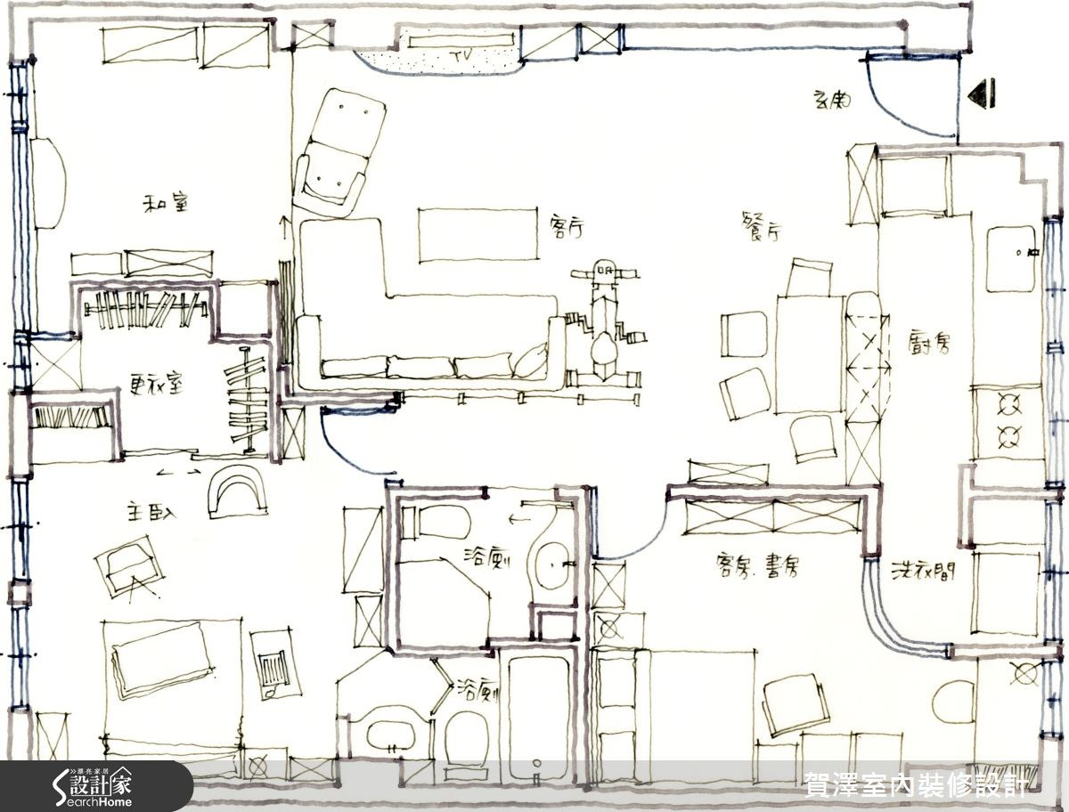 24坪老屋(16~30年)_地中海風案例圖片_賀澤室內設計_賀澤_05之18