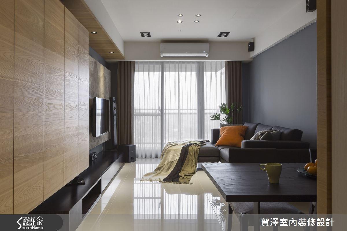 30坪新成屋(5年以下)_現代風客廳案例圖片_賀澤室內設計_賀澤_11之1