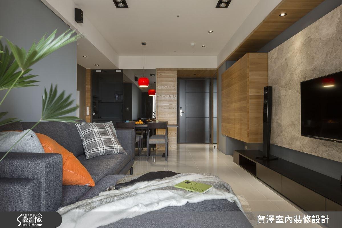30坪新成屋(5年以下)_現代風客廳餐廳案例圖片_賀澤室內設計_賀澤_11之5