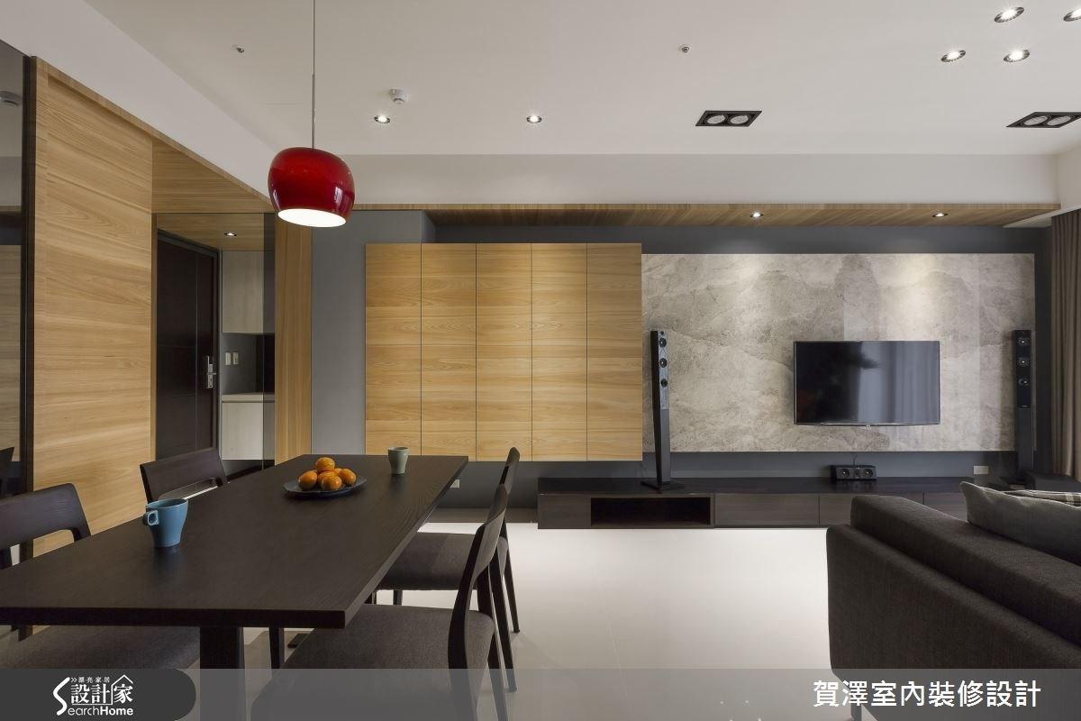 30坪新成屋(5年以下)_現代風客廳餐廳案例圖片_賀澤室內設計_賀澤_11之6