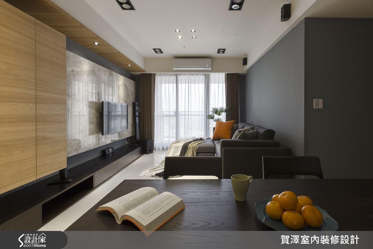 30坪新成屋(5年以下)_現代風客廳案例圖片_賀澤室內設計_賀澤_11之15