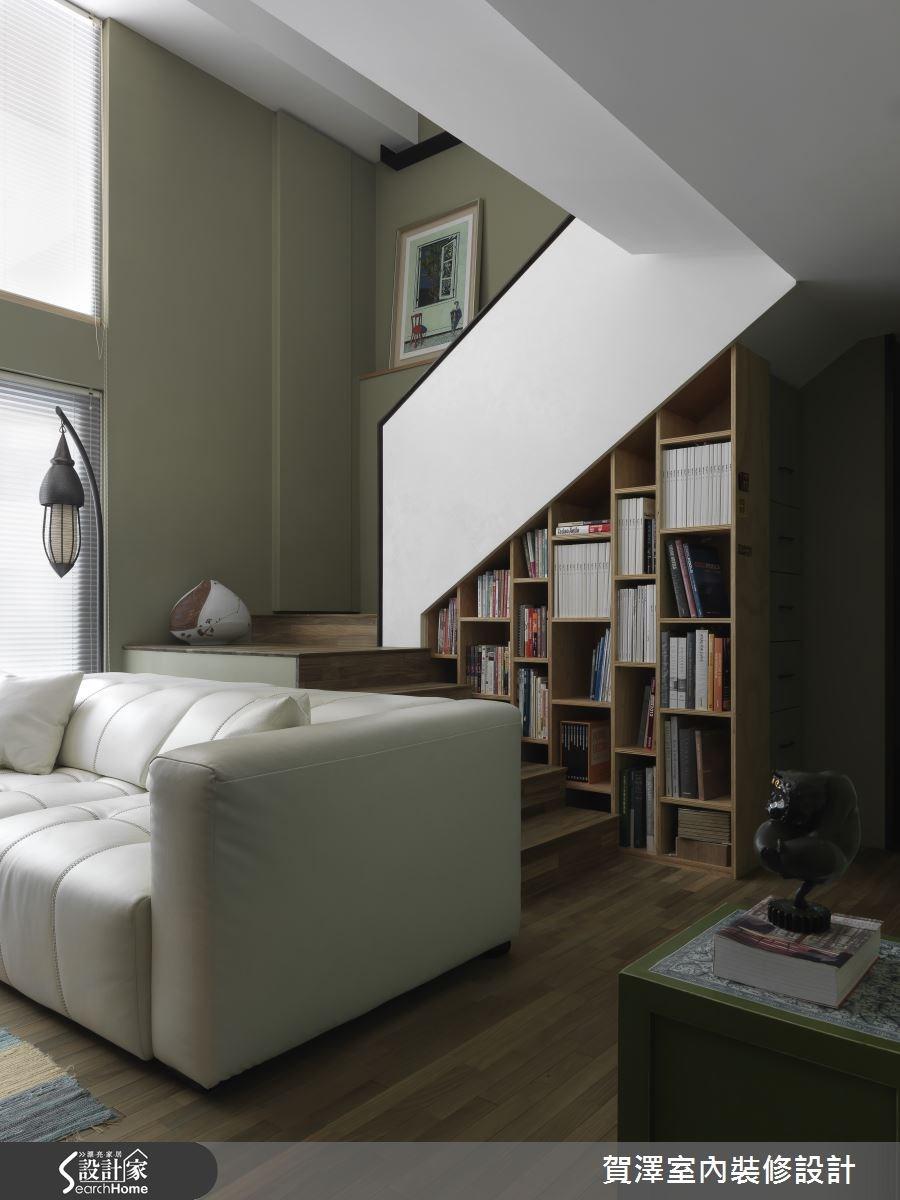 30坪中古屋(5~15年)_療癒風客廳樓梯案例圖片_賀澤室內設計_賀澤_12之1