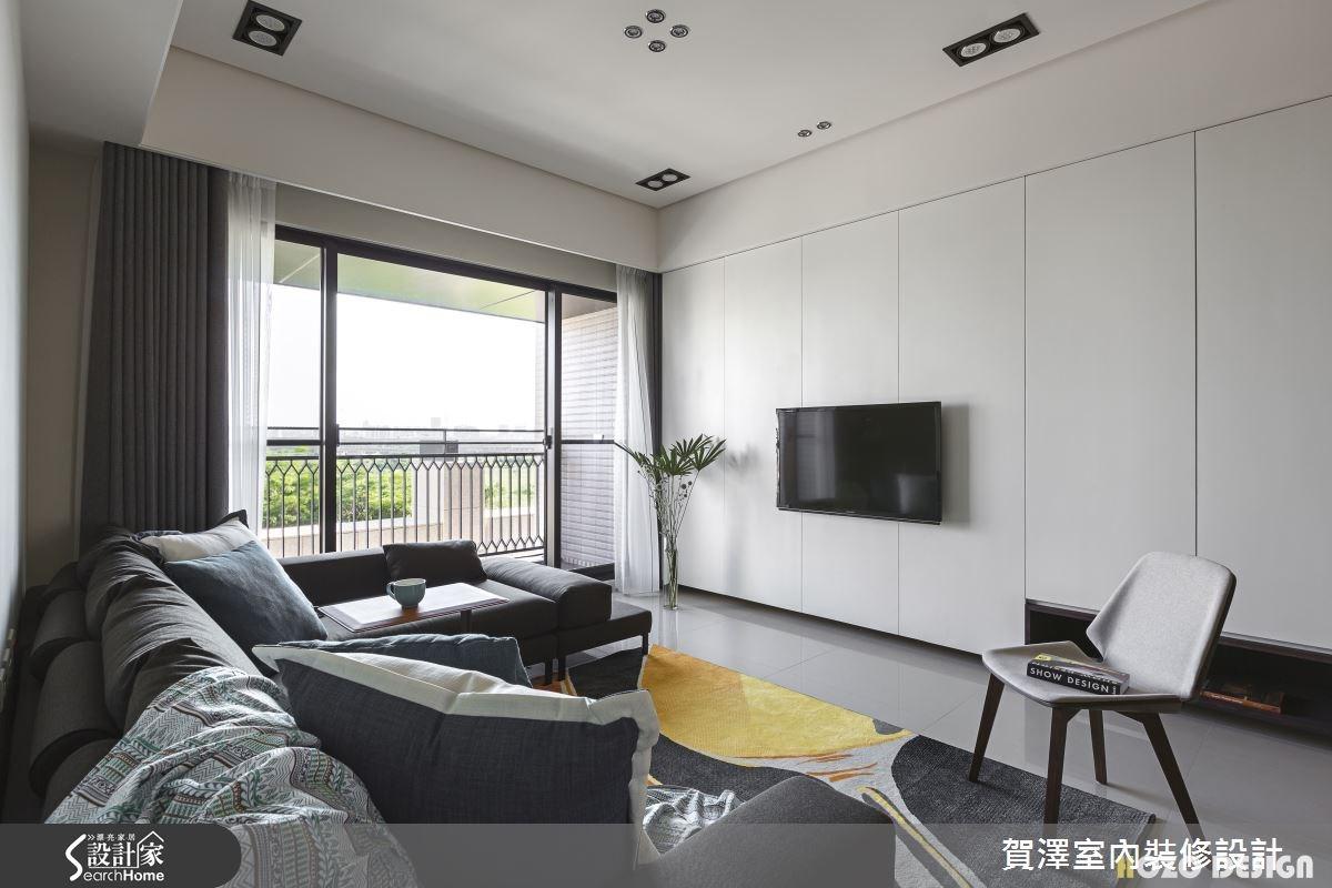 40坪預售屋_現代風客廳案例圖片_賀澤室內設計_賀澤_15之4