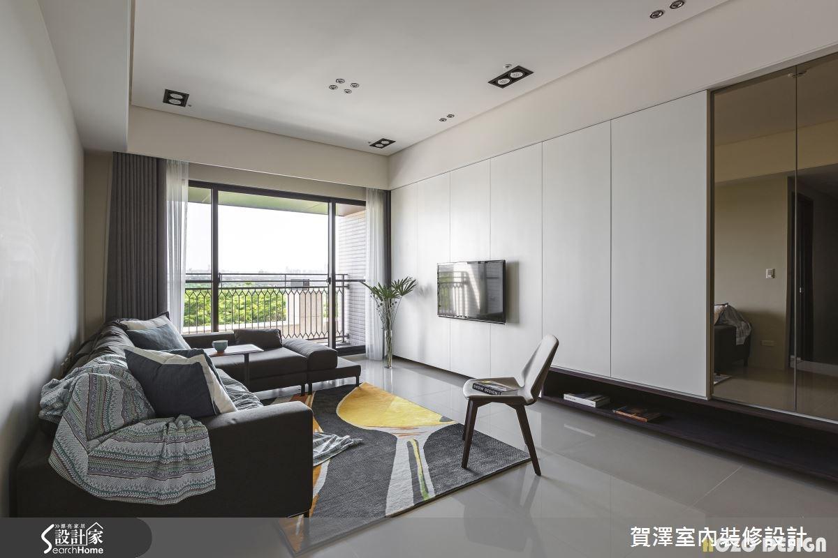 40坪預售屋_現代風客廳案例圖片_賀澤室內設計_賀澤_15之5