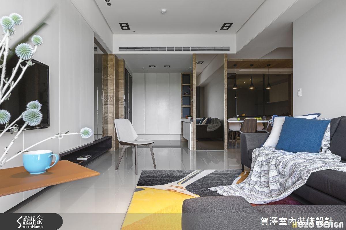 40坪預售屋_現代風客廳案例圖片_賀澤室內設計_賀澤_15之6