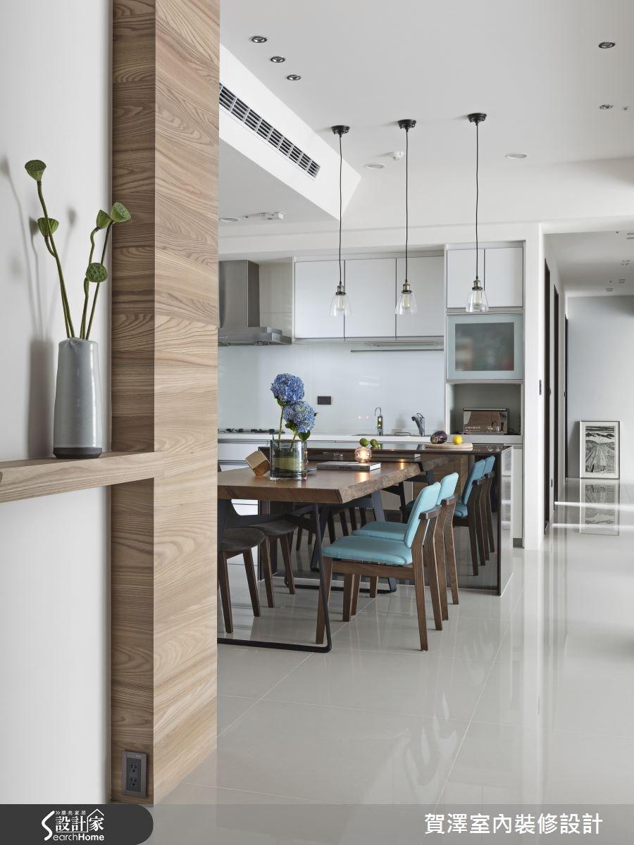 50坪新成屋(5年以下)_現代風餐廳廚房案例圖片_賀澤室內設計_賀澤_17之2