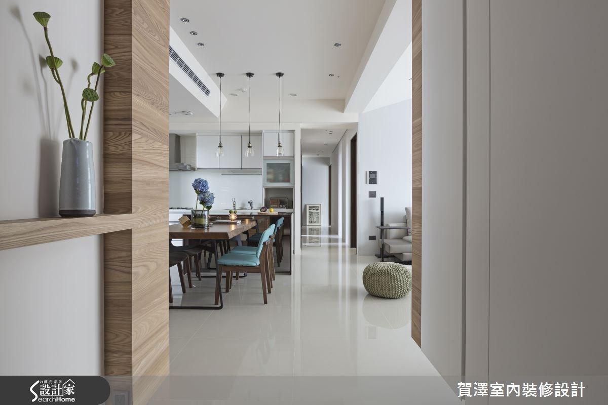 50坪新成屋(5年以下)_現代風餐廳走廊案例圖片_賀澤室內設計_賀澤_17之3