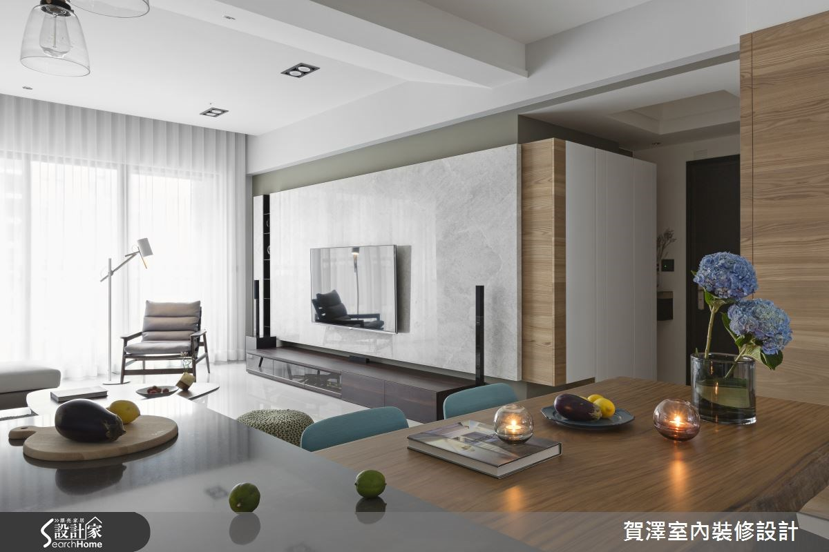 50坪新成屋(5年以下)_現代風客廳餐廳案例圖片_賀澤室內設計_賀澤_17之4