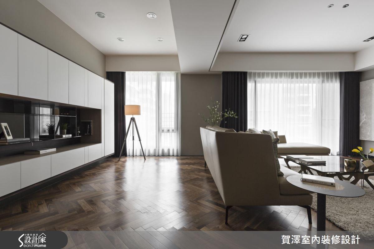 42坪新成屋(5年以下)_奢華風客廳走廊案例圖片_賀澤室內設計_賀澤_19之4