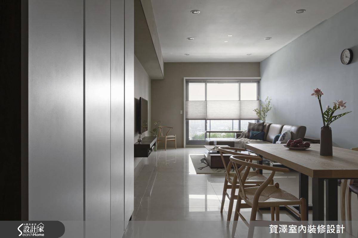 28坪新成屋(5年以下)_簡約風客廳餐廳案例圖片_賀澤室內設計_賀澤_20之1