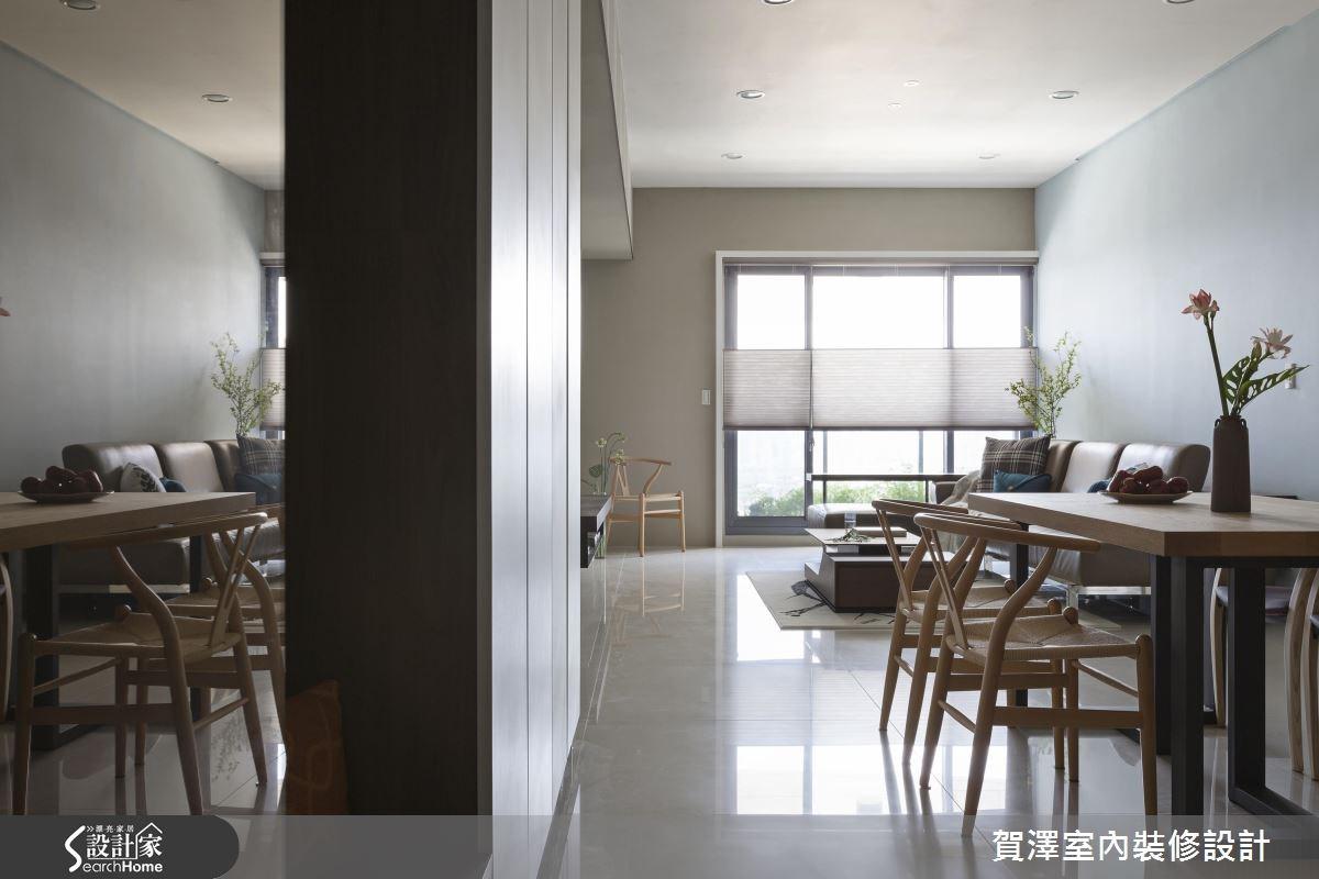 28坪新成屋(5年以下)_簡約風客廳案例圖片_賀澤室內設計_賀澤_20之2