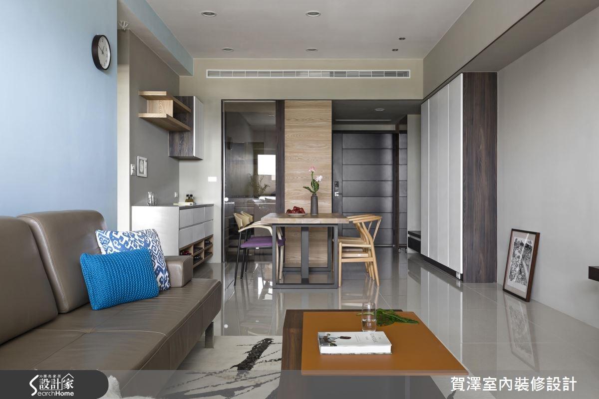 28坪新成屋(5年以下)_簡約風客廳餐廳案例圖片_賀澤室內設計_賀澤_20之4