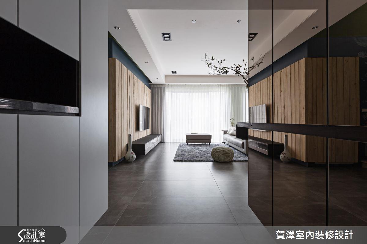 60坪預售屋_休閒風客廳走廊案例圖片_賀澤室內設計_賀澤_22之2