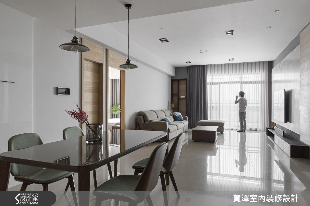 55坪預售屋_現代風客廳餐廳案例圖片_賀澤室內設計_賀澤_25之3