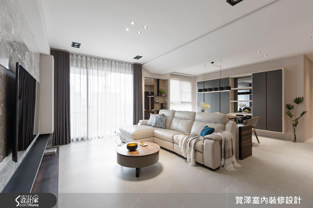 52坪新成屋(5年以下)_奢華風客廳案例圖片_賀澤室內設計_賀澤_27之2
