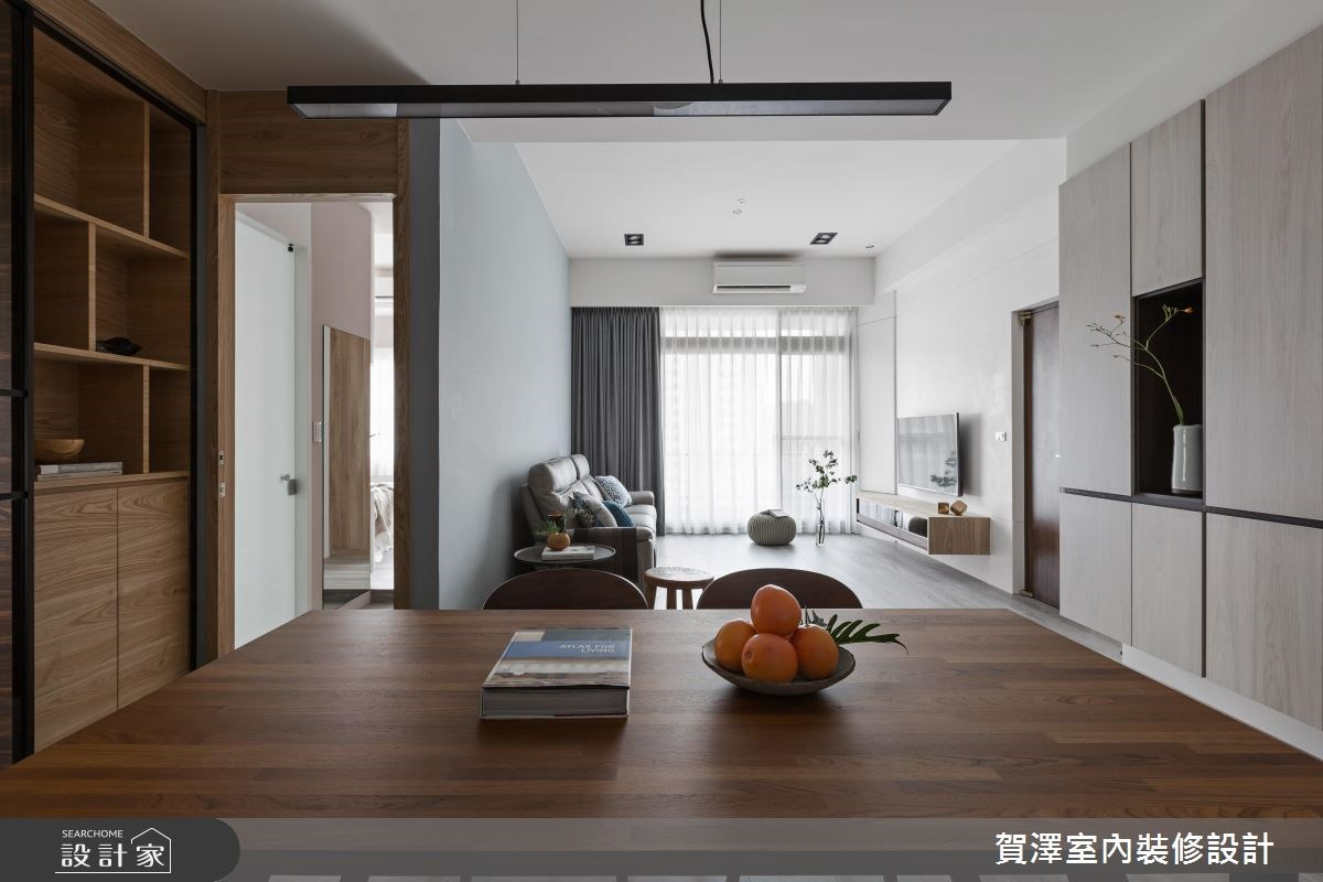 36坪中古屋(5~15年)_現代風客廳案例圖片_賀澤室內設計_賀澤_29之6