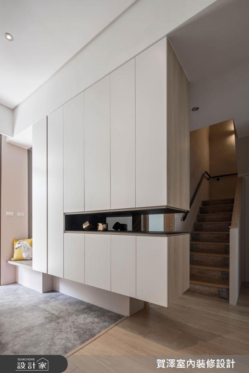 60坪老屋(16~30年)_休閒風玄關樓梯案例圖片_賀澤室內設計_賀澤_32之4