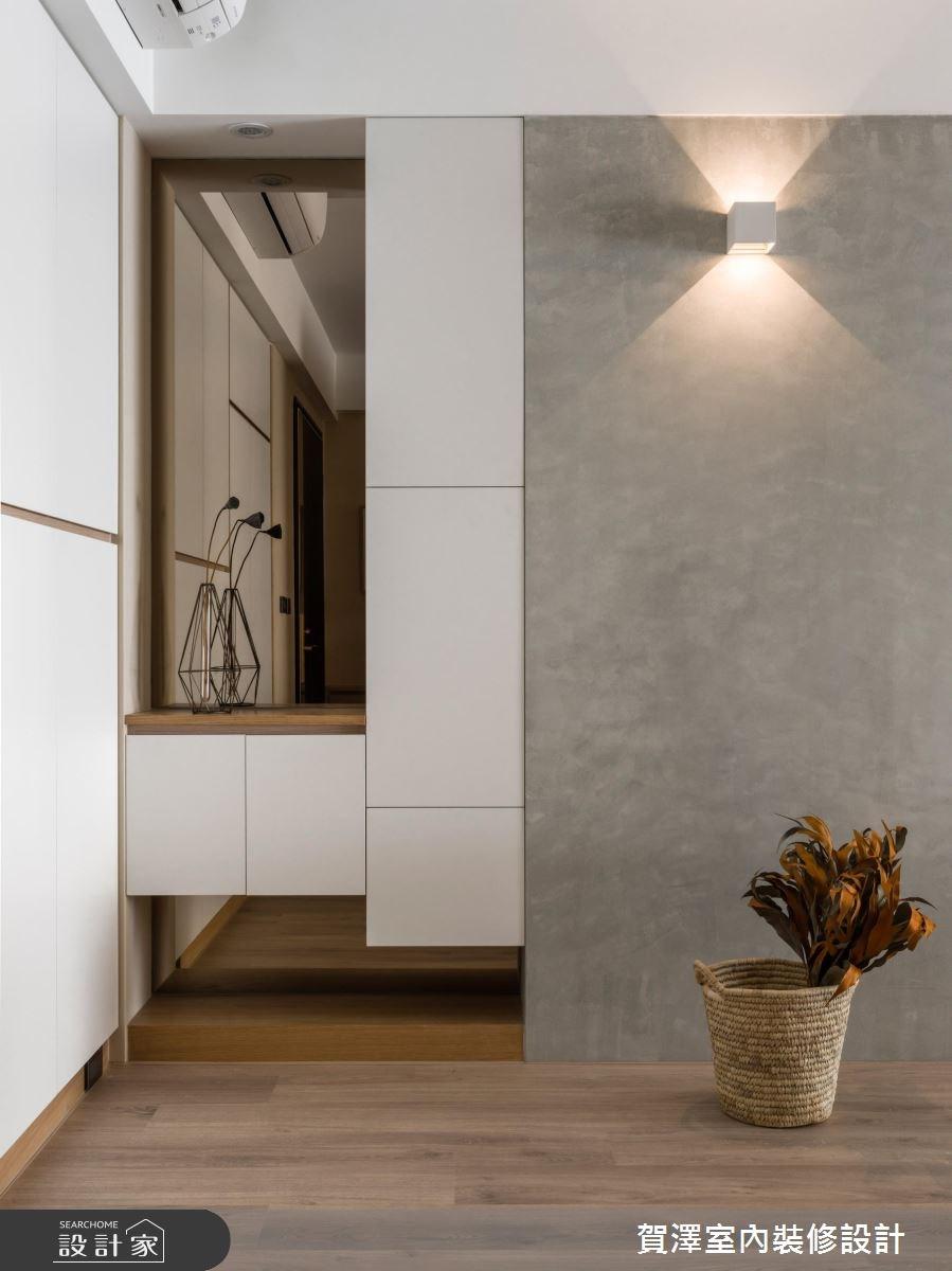 45坪新成屋(5年以下)_混搭風玄關案例圖片_賀澤室內設計_賀澤_33之3
