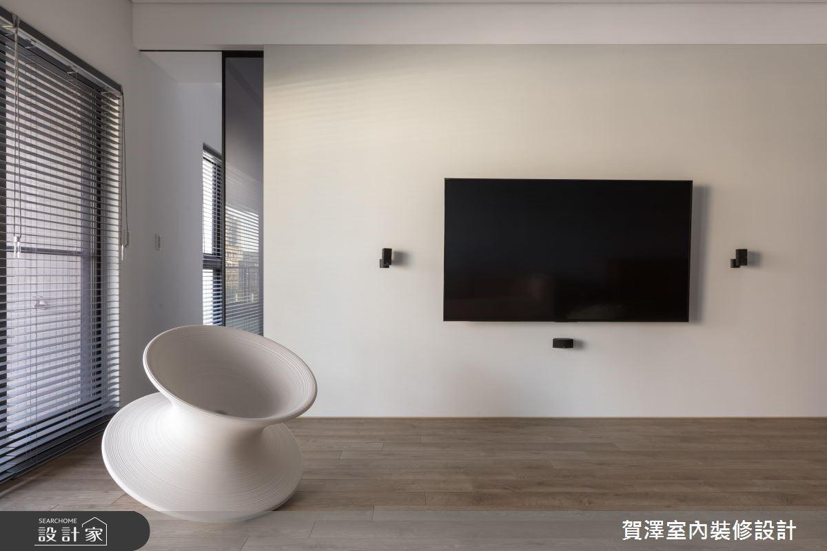 100坪新成屋(5年以下)_簡約風客廳案例圖片_賀澤室內設計_賀澤_37之6
