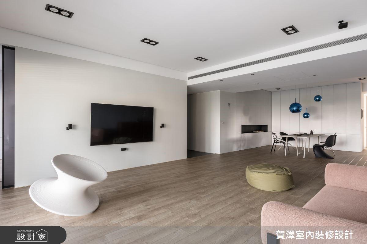 100坪新成屋(5年以下)_簡約風客廳案例圖片_賀澤室內設計_賀澤_37之3
