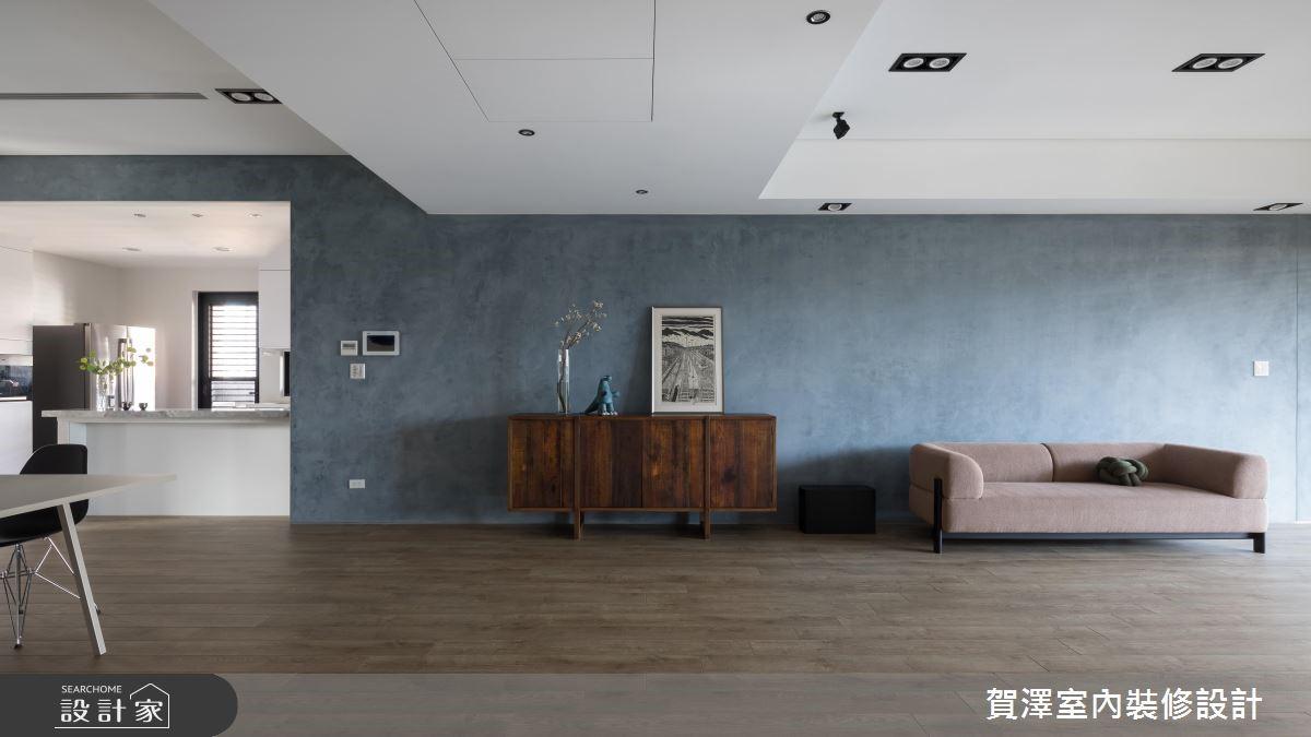 100坪新成屋(5年以下)_簡約風客廳案例圖片_賀澤室內設計_賀澤_37之7