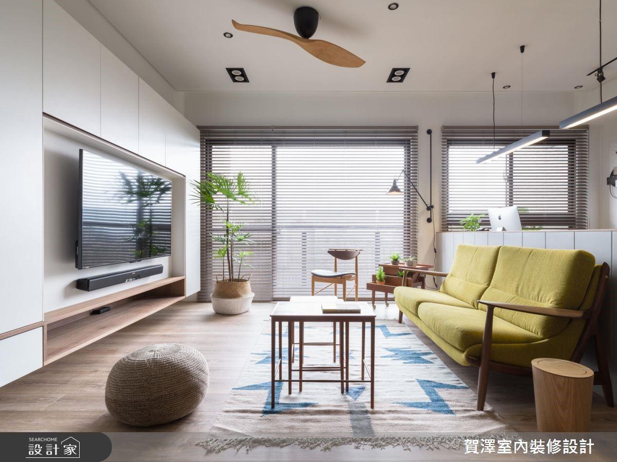 29坪新成屋(5年以下)_北歐風客廳案例圖片_賀澤室內設計_賀澤_38之2