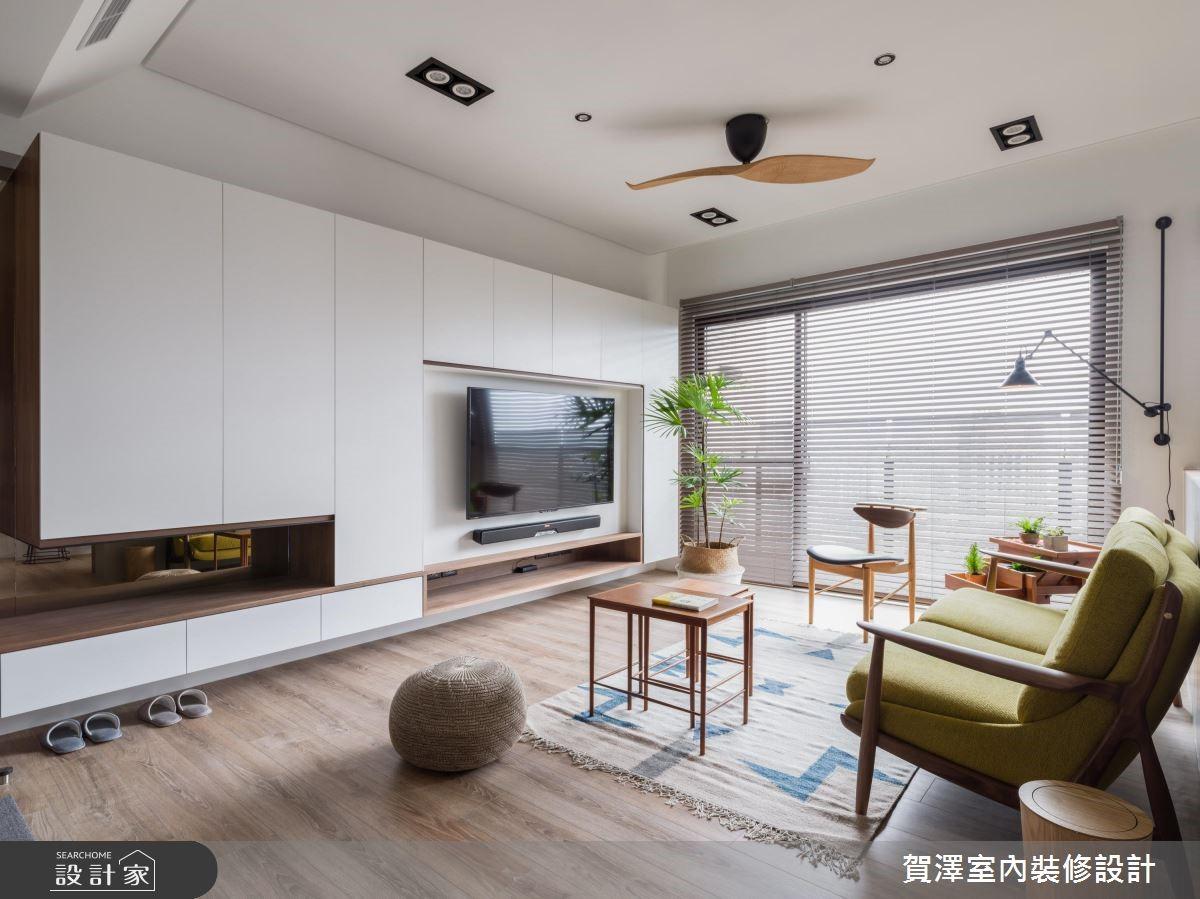 29坪新成屋(5年以下)_北歐風客廳案例圖片_賀澤室內設計_賀澤_38之1