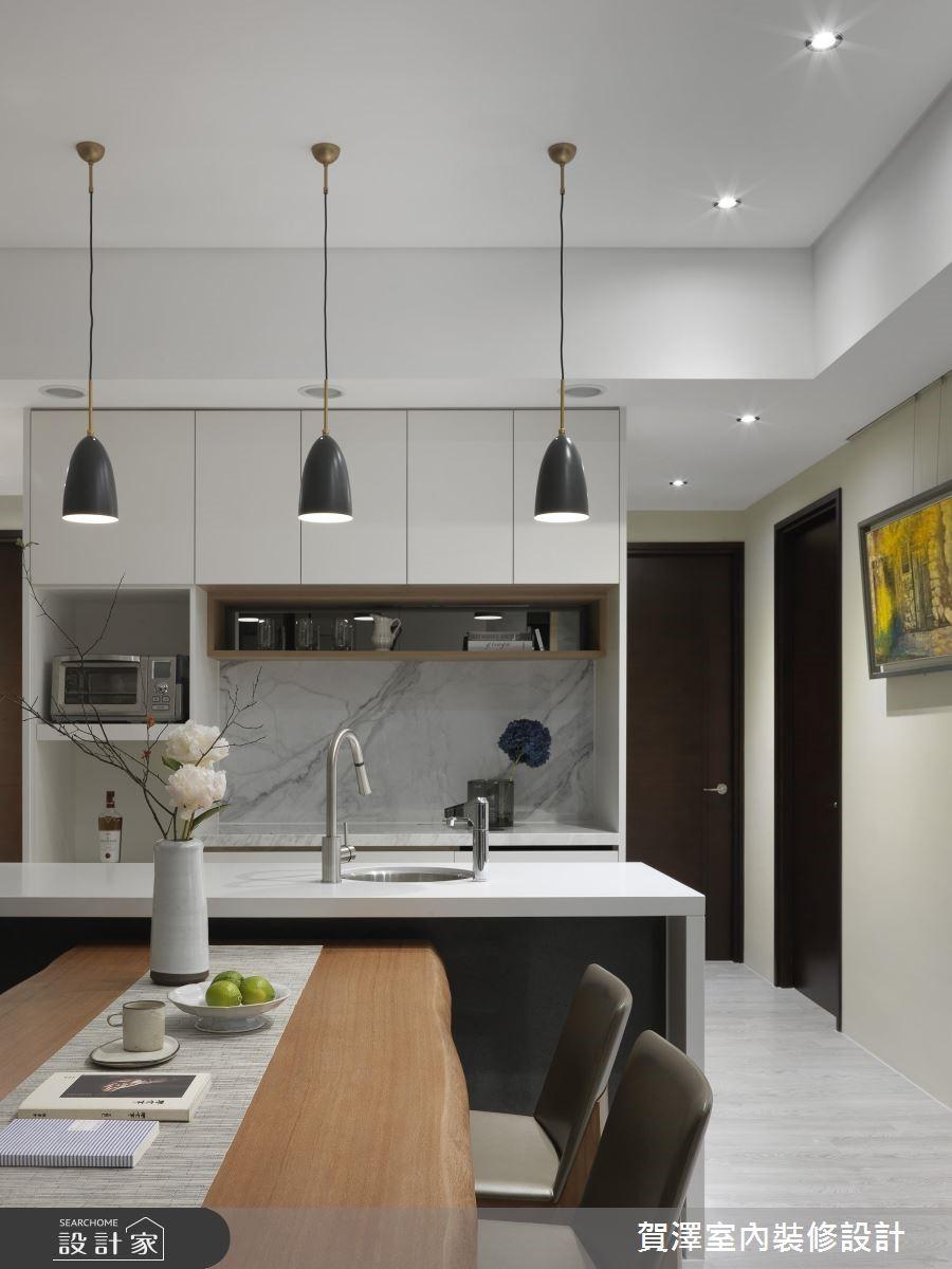 67坪新成屋(5年以下)_現代風餐廳廚房吧檯案例圖片_賀澤室內設計_賀澤_39之13
