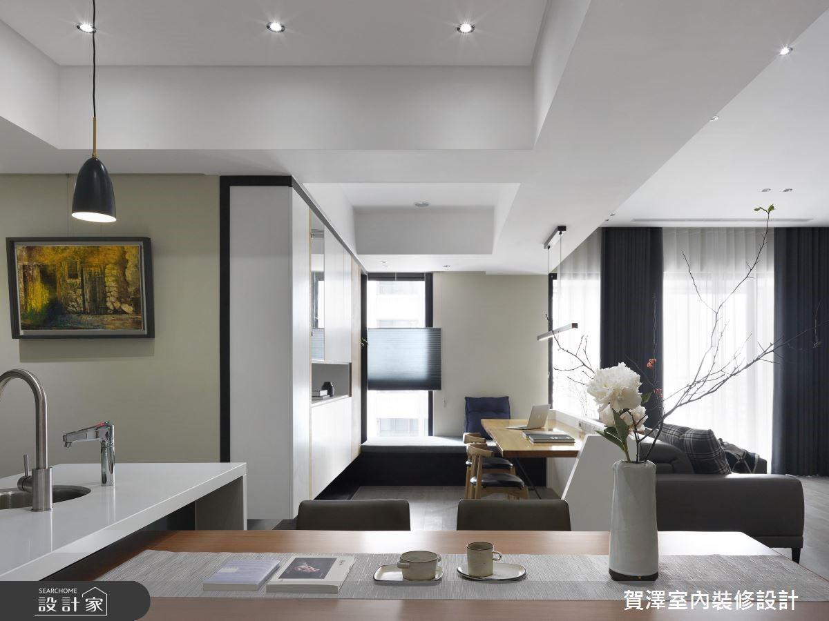 67坪新成屋(5年以下)_現代風餐廳書房案例圖片_賀澤室內設計_賀澤_39之15