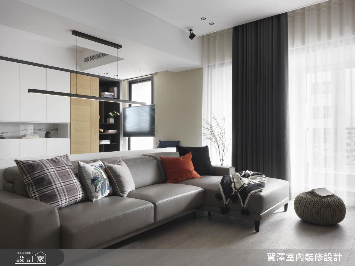 67坪新成屋(5年以下)_現代風客廳案例圖片_賀澤室內設計_賀澤_39之5