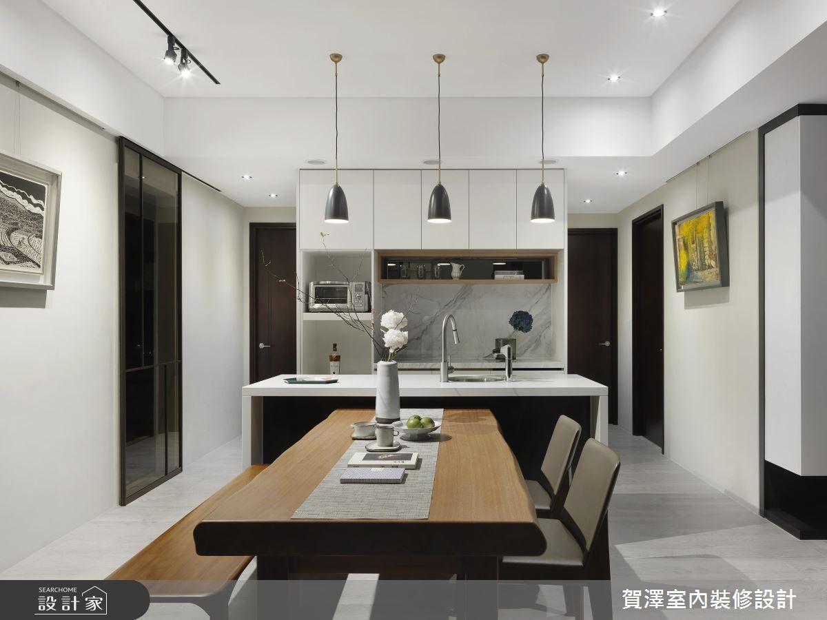 67坪新成屋(5年以下)_現代風餐廳廚房吧檯案例圖片_賀澤室內設計_賀澤_39之11