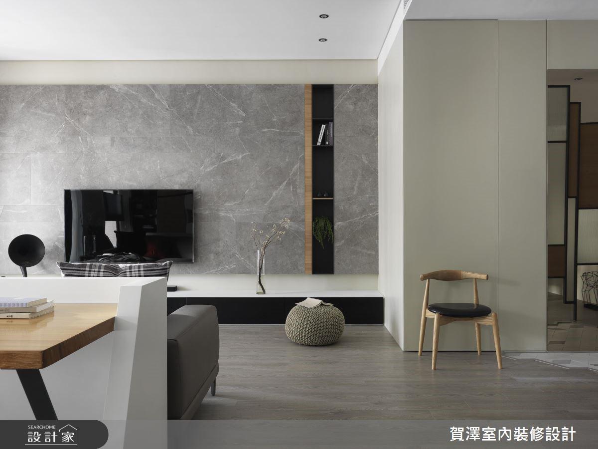 67坪新成屋(5年以下)_現代風客廳案例圖片_賀澤室內設計_賀澤_39之3