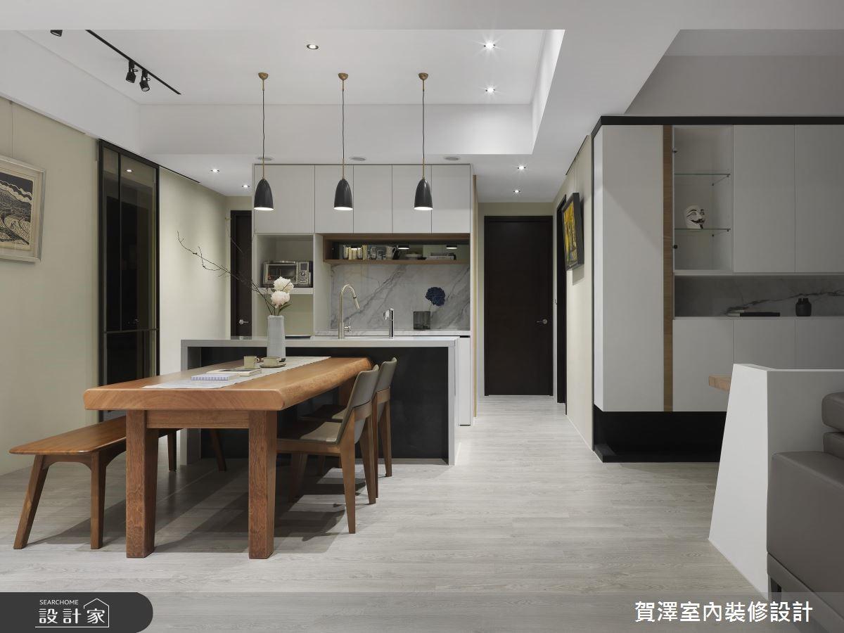 67坪新成屋(5年以下)_現代風餐廳廚房吧檯案例圖片_賀澤室內設計_賀澤_39之12