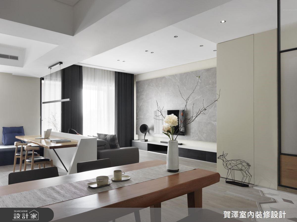 67坪新成屋(5年以下)_現代風客廳餐廳書房案例圖片_賀澤室內設計_賀澤_39之14