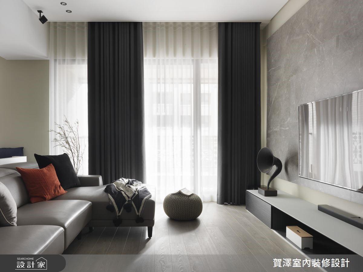 67坪新成屋(5年以下)_現代風客廳案例圖片_賀澤室內設計_賀澤_39之6