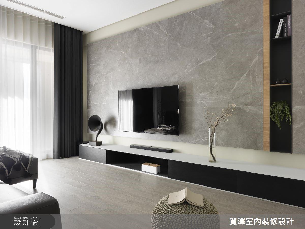 67坪新成屋(5年以下)_現代風客廳案例圖片_賀澤室內設計_賀澤_39之4