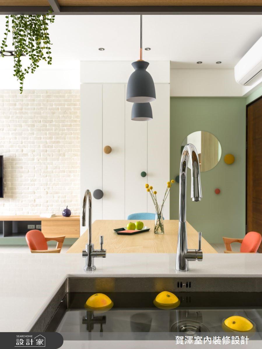 30坪新成屋(5年以下)_北歐風餐廳案例圖片_賀澤室內設計_賀澤_40之18