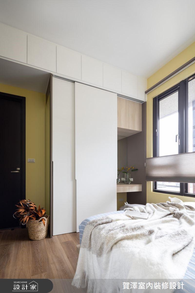 30坪新成屋(5年以下)_北歐風臥室案例圖片_賀澤室內設計_賀澤_40之20