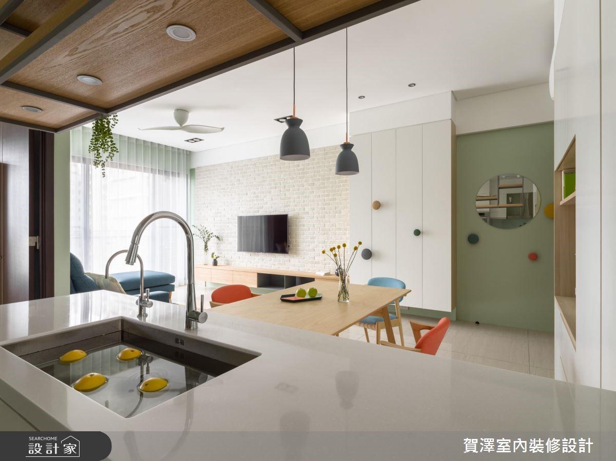 30坪新成屋(5年以下)_北歐風餐廳案例圖片_賀澤室內設計_賀澤_40之17